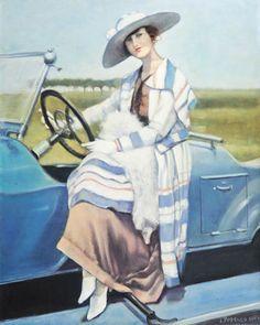 Blue Automobile - 100 x 80 sm, oil, canvas, 2007