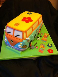VW Camper Birthday Cake