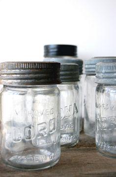 . . . old jars . . . ball jars . . . mason jars . . .