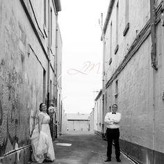 Miranda & Tim having in the lane ways of Warrnambool.  #weddingphotography #warrnamboolwedding #warrnambool #coolcouple #lovewhatido #loveblackandwhite #love #married #weddingfun by leannemulcahy_photography