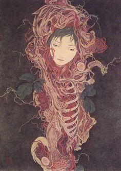 Страшные сказки японского иллюстратора Такато Ямамото | Дочки-Матери