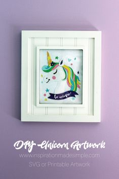 DIY Paper Pieced Unicorn Artwork - SVG or printable file