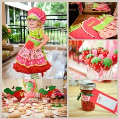 The Celebration Shoppe: Strawberry Shortcake Baking Party. 2nd Birthday Party Themes, Birthday Ideas, Strawberry Shortcake Birthday, Baking Party, Barbie Birthday, Bday Girl, Candy Party, Party Cakes, Party Ideas