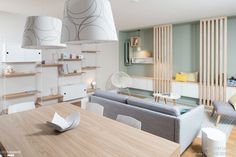 Ambiance scandinave dans une pièce à vivre à Lyon, Lyon, Marion Lanoë - architecte d'intérieur