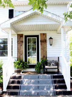 DIY WOOD SHUTTERS & A FRONT DOOR FACELIFT | Proverbs 31 Girl