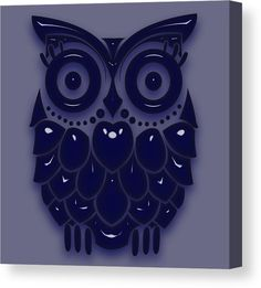 Owl Canvas Print featuring the mixed media Wise Old Owl by Marvin Blaine
