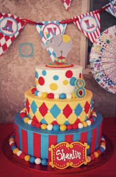 Carnival Theme Birthday Party Ideas Carnival birthday cakes