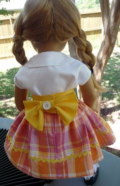 18' Doll Clothes 1940s1950s style Skirt Blouse by Designed4Dolls