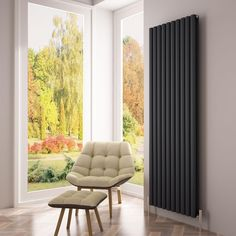 Instantly add modern styling to your home with this beautiful Milano Aruba Ayre Aluminium Anthracite Vertical Designer Radiator. Made from lightweight aluminium, this stunning designer radiator will heat up five times faster than a steel alternative, l Tall Radiators, Vertical Radiators, Solid Brick, Brick And Wood, Wooden Flooring, Concrete Floors, Contemporary Radiators, Roof Insulation, Designer Radiator