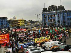 Todos los gremios se juntaron a una sola voz [Foto: Candy Castro / Spacio Libre]
