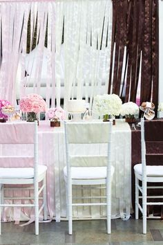 Pink, cream and brown party... Neapolitan love!!!  <3