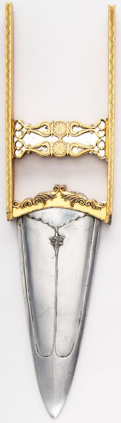 """Indian katar, 18th century, this is a """"double"""" katar with an inner blade that…"""