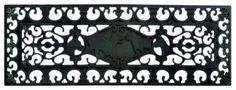 Imports Décor Rubber Stair Mat, Dog, 9-Inches by 30-Inches by Imports Décor. $16.99. Ideal for pool and wet areas. Measures 9-inch by 30-inch. Molded into various wrought iron-inspired designs. 100-percent vulcanized rubber. Durable and always looks new. Add a finishing touch to your entry way with this wrought iron-inspired rubber stair mat from Imports Decor. Stair mats bring an elegant welcome to your home while providing safety with the non-skid rubber back. ...