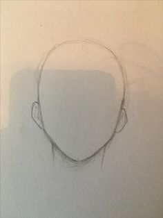 Basic front anime head shape for anatomy
