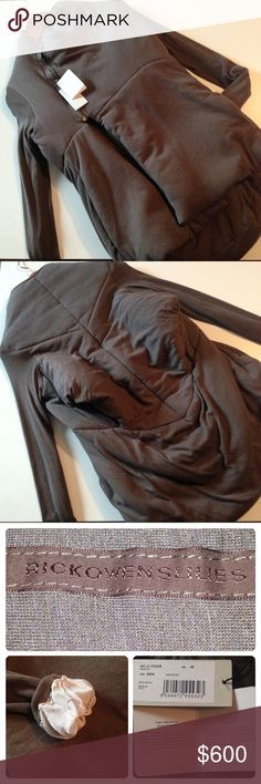 """⭐️Final price⭐️Rick Owens Lilies jacket ⭐️Final Price - was $600⭐️Unique jacket from avant-garde designer Rick Owens. In perfect condition, no flaws. Front zipper, silky sleeve lining (see photo 4), openings? in back (see photo 2), and pockets. Rayon, angora, wool, and nylon. This jacket is very thick and soft. Tag reads """"DNA DUST;"""" I believe it's from the Fall/Winter 2000 collection, so it's almost vintage! Size 40 Euro; in my opinion like an American  6. 18.5"""" armpit to armpit, 27"""" top of…"""