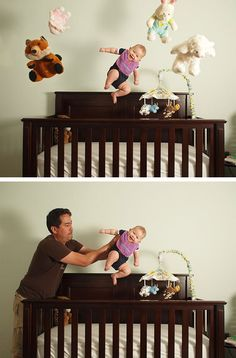 Make your baby fly photoshoot/photoshop. Imagine what would happen if you showed this to, i dunno, your great-grandmother who was no idea what photo manipulation is? I HAVE TO DO THIS WITH BABY BOY! Funny Baby Photography, Photoshop Photography, Photography Tutorials, Creative Photography, Children Photography, Newborn Photography, Photography Ideas, Family Photography, Before And After Photoshop