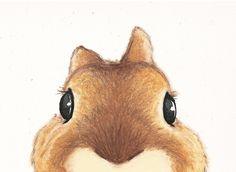 Mignon lapin brun Illustration sur papier recyclé par ABunnyandBear