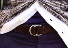 Suede O-Ring Belt