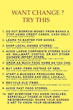Think self-reliance is a radical concept just in America? Buy used items or find a new purpose for your old items.Pay cash or barter! Educate your children about the importance of self- reliance and community building. Survival Prepping, Emergency Preparedness, Survival Skills, Survival Gear, Survival Supplies, Survival Hacks, Urban Survival, Survival Quotes, Apocalypse