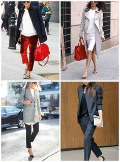 collage come vestirsi per l'ufficio