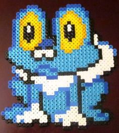Pokemon Froakie made in Perler Beads  CUSTOM by DreamsofYesterday, $20.00