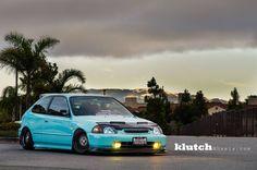 Honda Vtec, Honda Civic Hatchback, Slammed Cars, Jdm Cars, Ek Hatch, Civic Eg, Classic Japanese Cars, Street Racing Cars, Car Goals