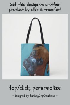 Boxer Dog Tote Bag - tap/click to personalize and buy #boxer #dog #pets #fancy #fawn