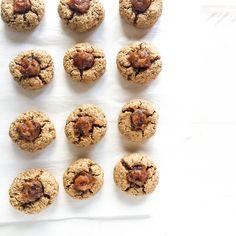 Almond Butter Date Thumbprint Cookies Gluten Free + Paleo