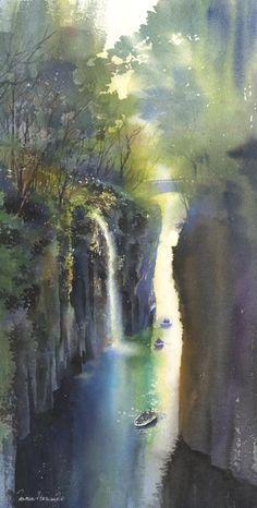 2011 kanta harusaki watercolor painting-