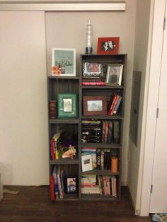 DIY bookshelf!  would paint them white but love this!