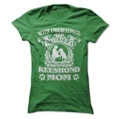 Proud Keeshond Mom T-Shirts, Hoodies. ADD TO CART ==► https://www.sunfrog.com/Pets/Proud-Keeshond-Mom-Ladies.html?id=41382