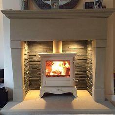 Trendy Home Interior Cottage Log Burner Ideas Wood Burner Fireplace, Inglenook Fireplace, Fireplace Built Ins, Fireplace Surrounds, Fireplace Design, Stone Fireplaces, Fireplace Ideas, Log Burner Living Room, Living Room With Fireplace