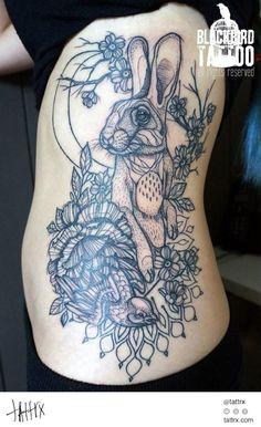 Blackbird Tattoo - Rabbit tattrx.com/artists/blackbird-tattoo tumblr: blackbirdinkhouse