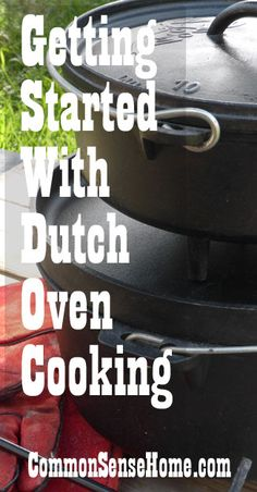 Dutch oven cooking allows you to cook a wide variety of foods under many different conditions. In this post, we'll talk about different types of Dutch ovens and how they are used, plus family favorite Dutch oven recipes. Iron Skillet Recipes, Skillet Cooking, Cast Iron Recipes, Fire Cooking, Cast Iron Cooking, Oven Cooking, Outdoor Cooking, Cooking Tips, Cooking Beets