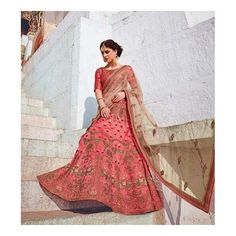 #uk #banglewale #stylish #pink #lehenga #designer #partywear shop online on international.banglewale.com