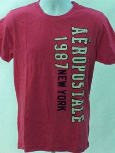 Aeropostale-Mens-Short-Sleeve-NY-Graphic-T-shirt-Pink-size-M-Aero-New-With-Tag