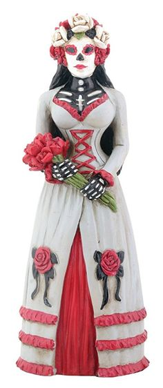 Day of the Dead Dod Gothic Bride Statue Skeleton Figurine http://amzn.to/2Aa0XfZ