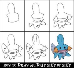 Daryl Hobson Artwork: How To Draw A Pokemon Step By Step: Mudkip