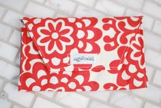Orange Floral Crayon Clutch from Etsy $18