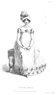 Evening Dress from from Ackermann's Repository of the Arts July 1817