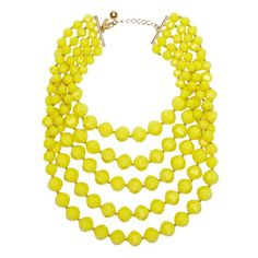 Cut to the chase bib necklace by Kate Spade -- love the yellow one, wish listed!