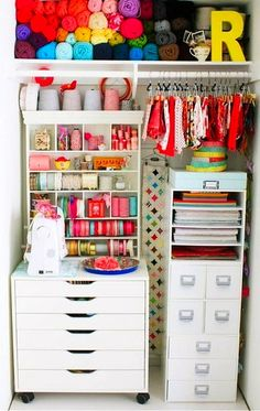 my craft closet needs a serious makeover like this!