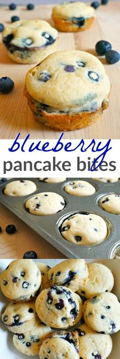 Make ahead blueberry pancake bites - these are the perfect easy breakfast ideas for busy back to school mornings!