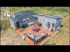 (166) 2 TINY HOMES Connected w/ Big Porch is Couple's Dream House - YouTube