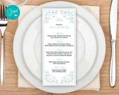 """Butterfly Menu Cards TEMPLATES 