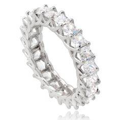 Journee Collection Sterling Silver Cubic Zirconia Bridal Style Band