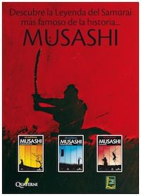Quaterni le invita a la presentación de la trilogía Musashi en la Casa del Libro