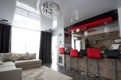 Make your open concept #home look bigger by adding high gloss #stretch #ceiling. - http://ift.tt/1HQJd81