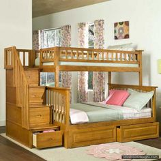 Shabby Chic Bunk Beds Design Creating Cute Shade In Kids Area - http://www.smallroomdesigns.com/small-home-decoration/shabby-chic-bunk-beds-design-creating-cute-shade-in-kids-area.html