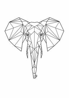 65 Trendy ideas for tattoo geometric elephant tatoo Geometric Drawing, Geometric Shapes, Geometric Animal, Geometric Elephant Tattoo, Mandala Elephant, Elephant Tapestry, Elephant Tattoos, Elephant Print, Geometric Designs
